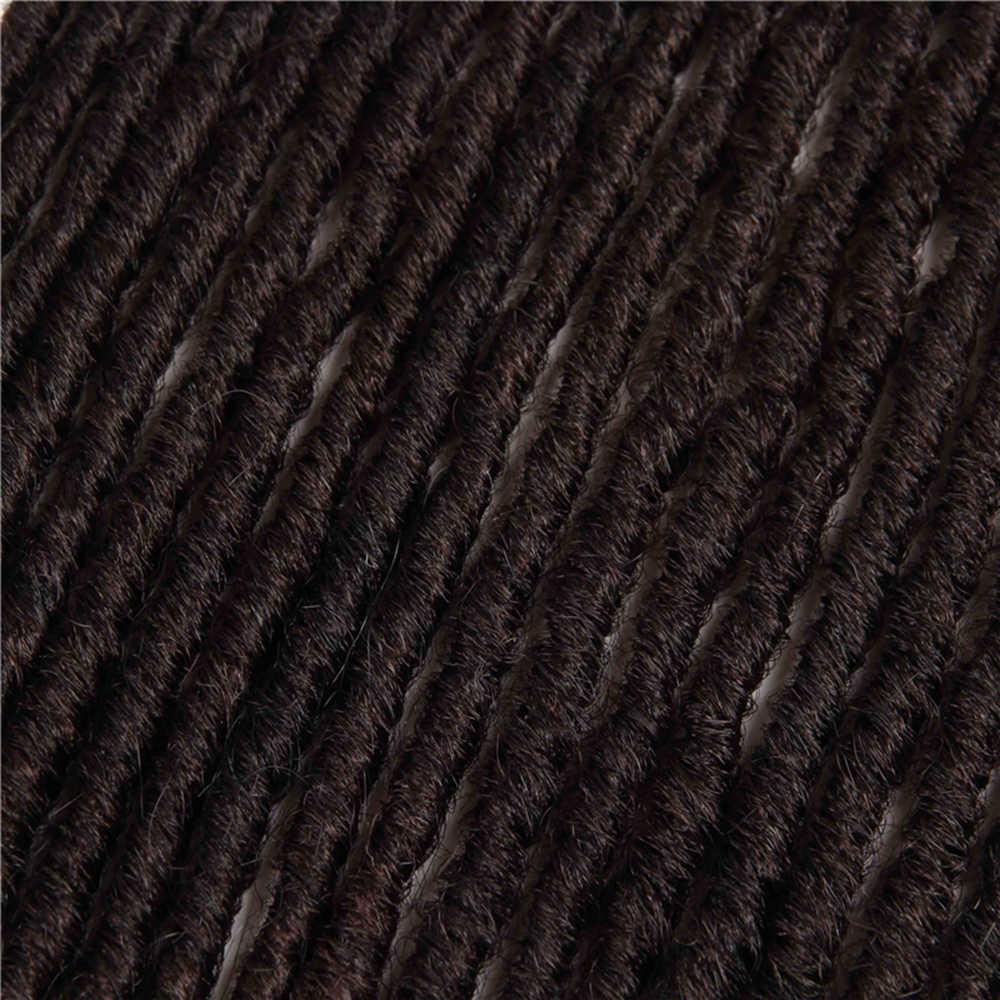 جدائل شعر صناعية ملحقات المجدل 18-26 بوصة أومبير اللون البني X-TRESS لينة مستقيم فو Locs جدائل الكروشيه الشعر