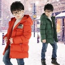 цена на Boy Winter Coat Jacket Children Winter Jackets For Boys Casual Hooded Warm Coat Baby Clothing Outwear Fashion Boys Parka Jacket
