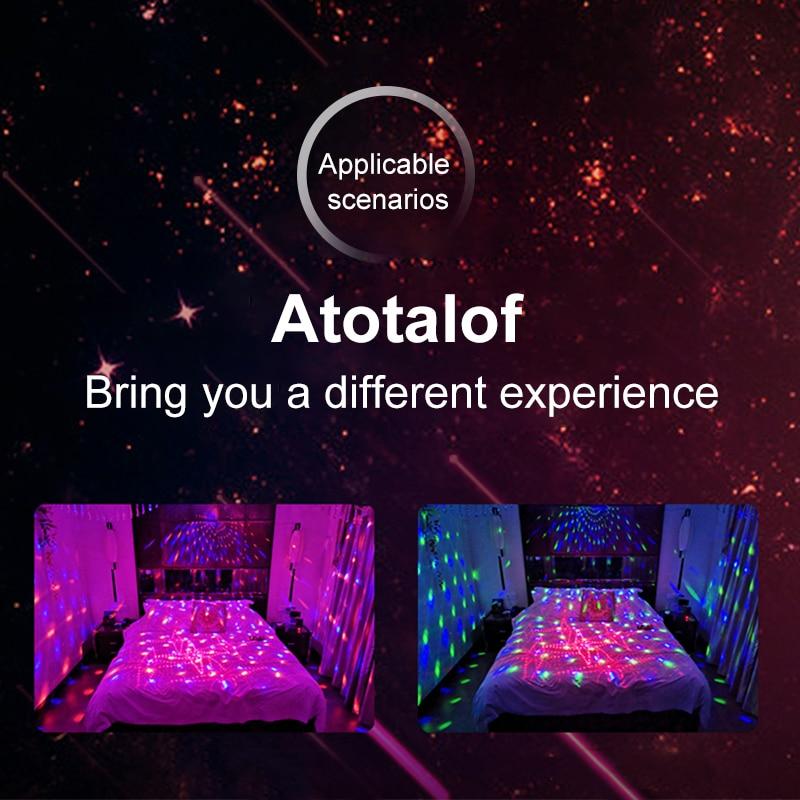 Atotalof RGB scène lumière 60 modèles Laser projecteur son activé Disco boule fête effet d'éclairage pour noël KTV mariage - 6