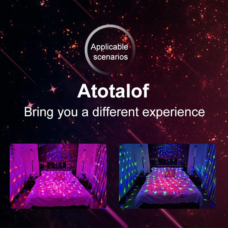 Atotalof rvb éclairage de scène 60 modèles projecteur Laser son activé boule Disco effet d'éclairage de fête pour noël KTV mariage - 6