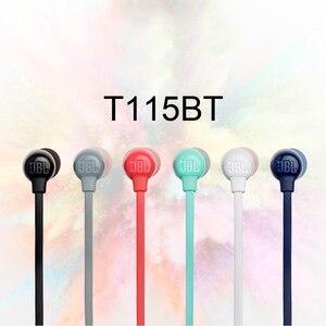 Image 4 - JBL – écouteurs Bluetooth sans fil T115BT, oreillettes magnétiques, charge rapide, son basse, 3 boutons, microphone à distance