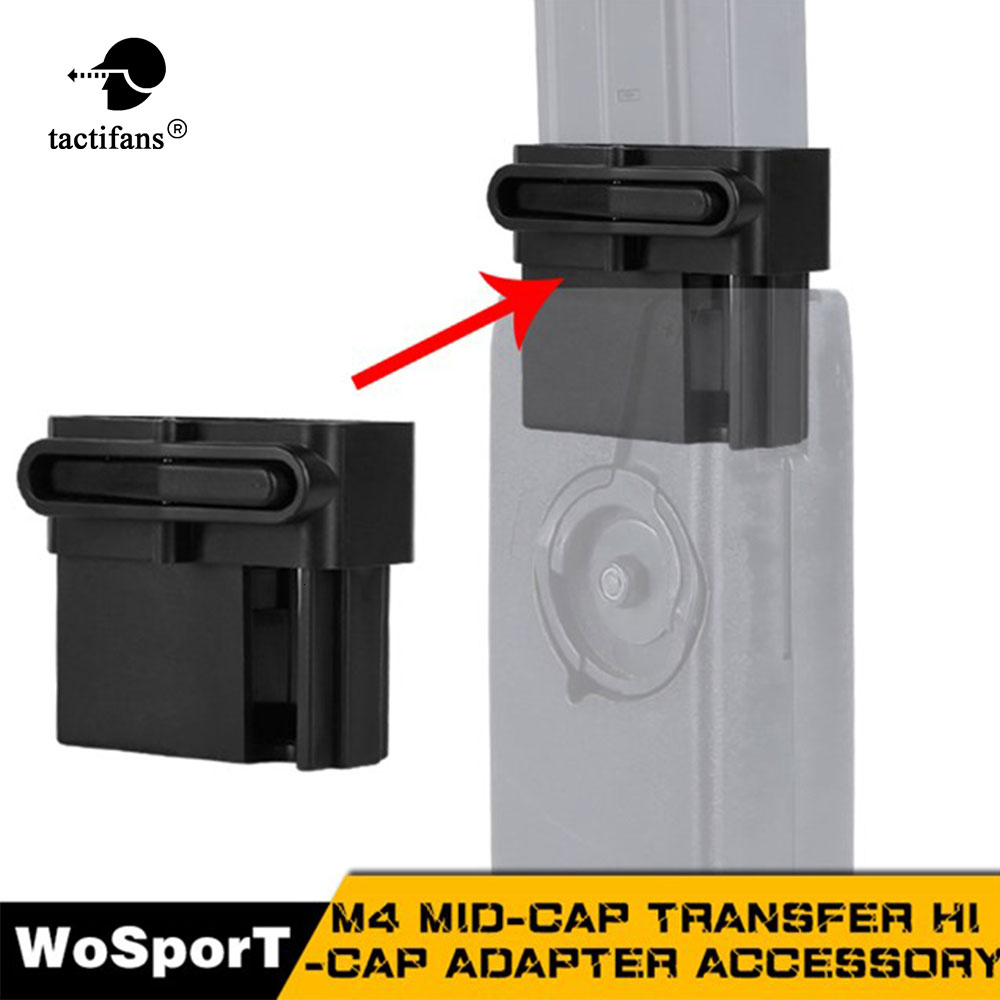 M4 BB Speed Loader Converter Mid-cap Hicap Magazine Adapter Hunting Airsoft Paintball Shooting Game Accessories