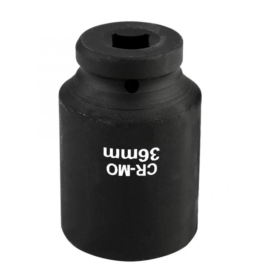 36mm 1/2in drive 12 ponto hex impacto profundo soquete do cubo porca soquete ferramenta de reparo pneumático do carro torsão chave chave soquete manga
