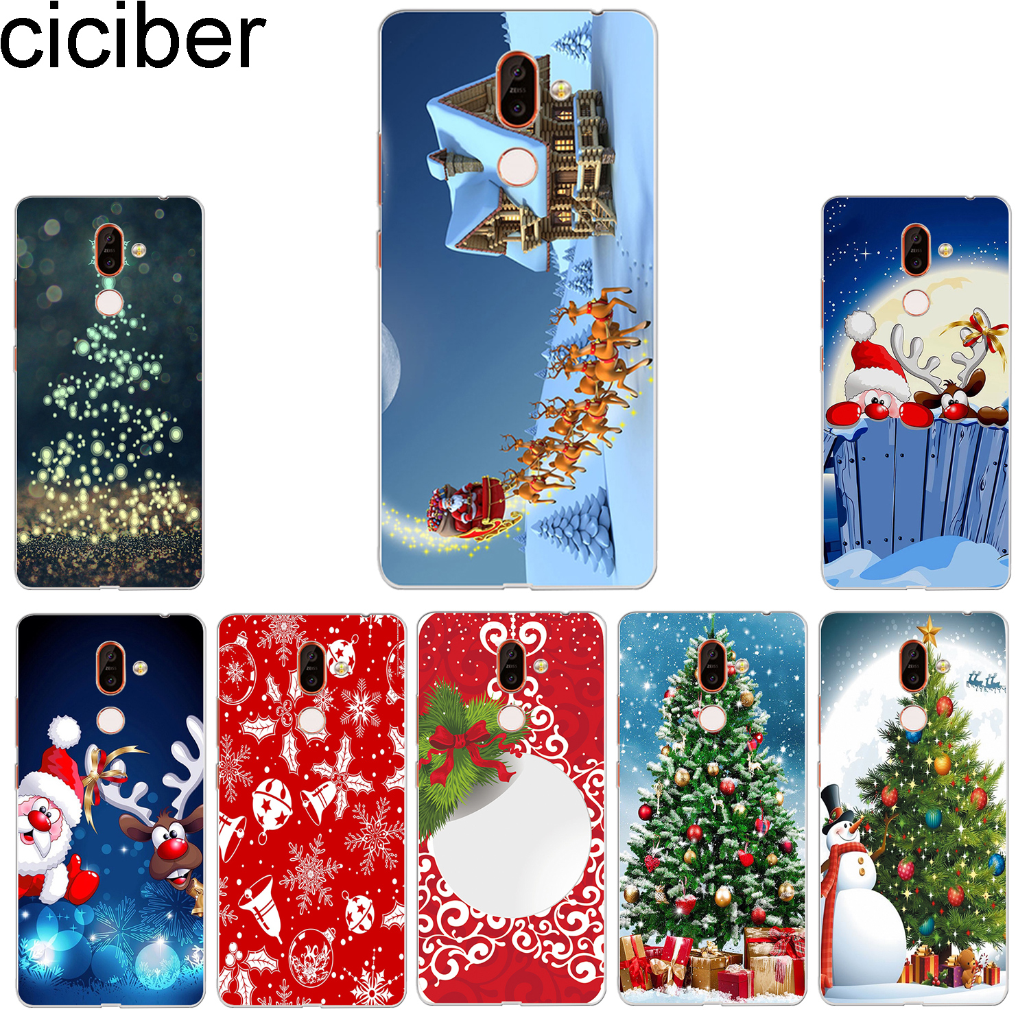 ciciber Merry Christmas Phone <font><b>Case</b></font> for <font><b>Nokia</b></font> 9 PureView 1 2 3 5 6 7 8 Sirocco Soft <font><b>Cover</b></font> for <font><b>Nokia</b></font> 2.1 3.1 5.1 <font><b>6.1</b></font> 7.1 8.1 <font><b>Plus</b></font> image