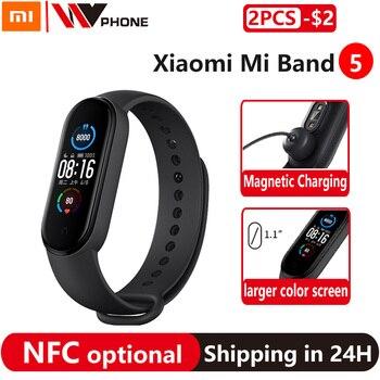 Xiaomi Mi bande 5 Version NFC en option ou Mi bande 5 Bracelet intelligent AMOLED écran Smartband Fitness Traker Bluetooth bande intelligente 1
