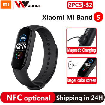 Xiaomi Mi Band 5 NFC Version optional or Mi Band 5 Smart Bracelet AMOLED Screen Smartband Fitness Traker Bluetooth Smart Band
