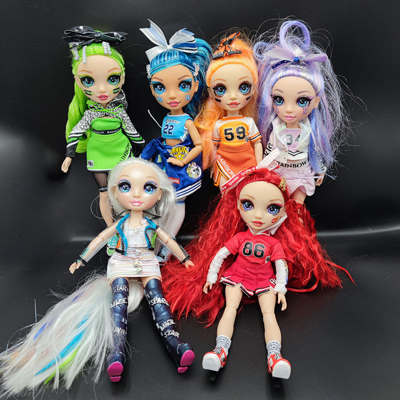 Радужная кукла старшей школы, Радужный старший сюрприз, розовое платье, чарлидинг, большая сестра, игрушка, 11 дюймов, подвижные подарки для д...