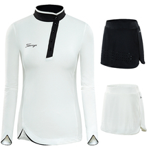 Women Skort Golf Skirt Sets Spring Autumn Sportswear Long Sleeve Shirts Ladies Slim Badminton Sports Golf Apparels