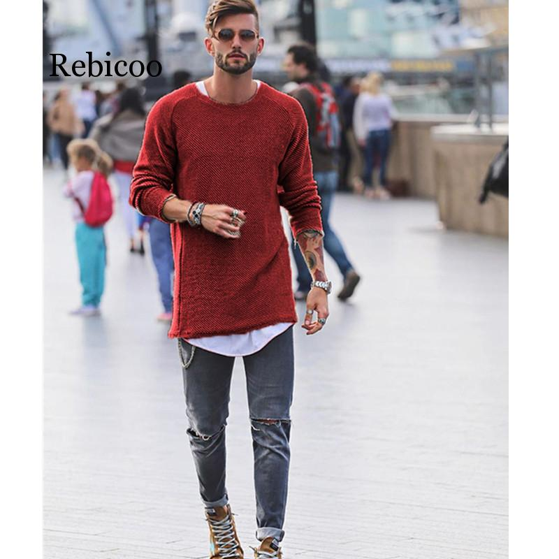 2019 autumn and winter fashion men 39 s sweater warm thickening slim men 39 s pullover 100 cotton trend knit jacquard sweater pullove in Pullovers from Men 39 s Clothing