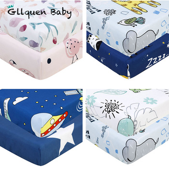 2 Pc Baby Crib Sheet Set Polyester Baby Fitted Sheet Mattress Bedding Sets For Standard Crib And Toddler Mattresses(130*70 CM)