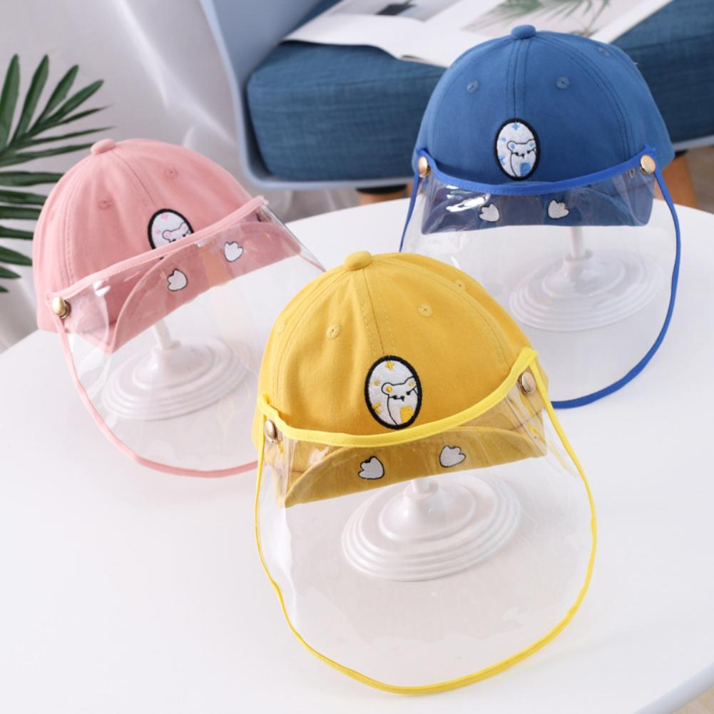 Kids Anti-Spitting Dustproof Full Face Cover Protective Baseball Cap Sun Hat Safe disinfection protection against viruses(China)