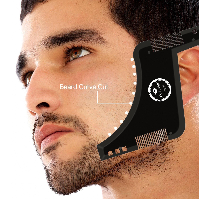 1PCS Shaping Beard Comb Shaving Styling Template Beard Hair Brush For 2019 Beard Hair Beard Template Men Style Tools