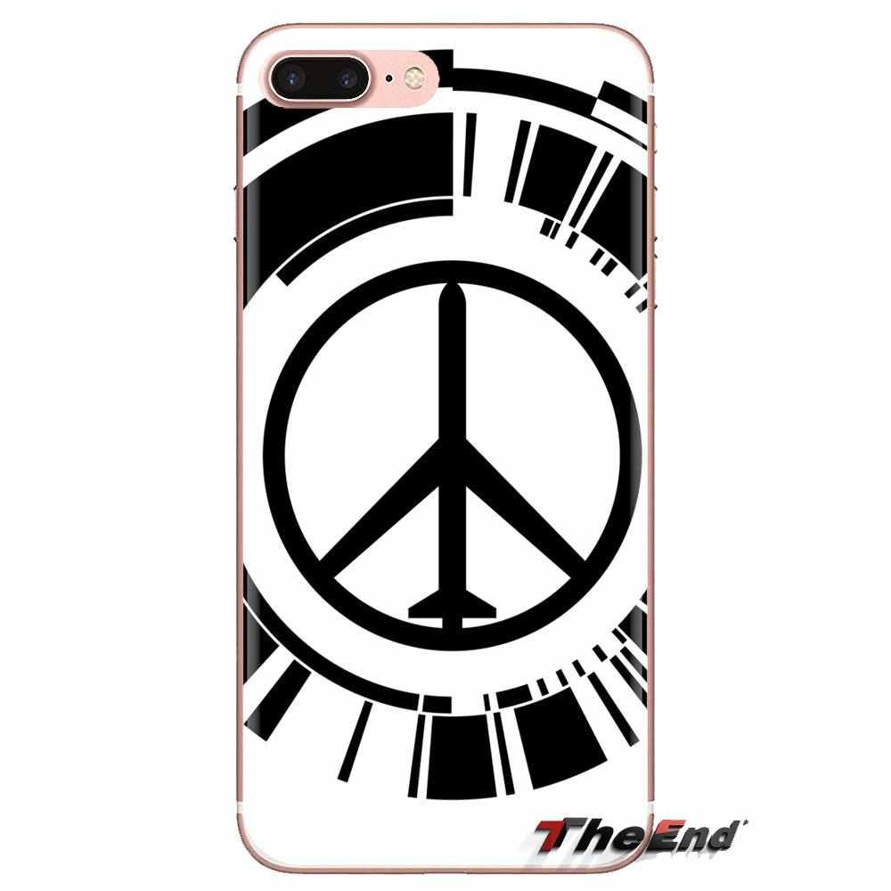 Souple Transparent Étuis Pour HTC U11 Un M7 M8 A9 M9 M10 E9 Désir 630 530 626 628 816 820 Motorola G G2 G3 signe de Paix logo