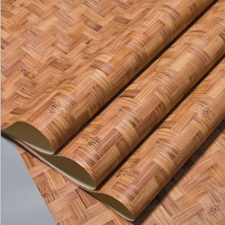 Retro Chinese Style Model Bamboo Weaving Bamboo Mat Wallpaper Classical Chinese-style Straw Mat Bamboo Tea House Restaurant Engi
