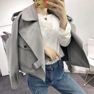 Image 4 - Kurtka z prawdziwej skóry kobiet plus rozmiar kurtka z owczej skóry 2020 atutmn zimowe płaszcze i kurtki damskie casual kobieta płaszcz