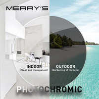 MERRYS Anti Blue Light Rays Photochromic Series 1.56 1.61 1.67 Prescription CR-39 Resin Aspheric Glasses Lenses Myopia Lens