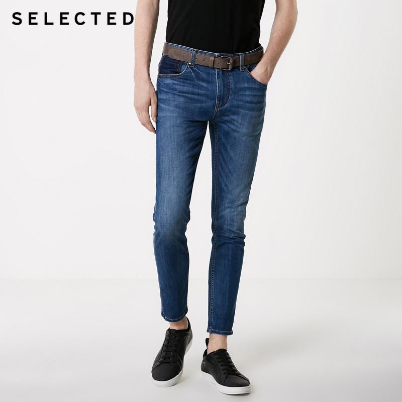 SELECTED Men's Slightly Stretch Lycra Slim Fit Jeans C|419232514