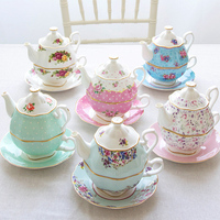 English Afternoon Tea Bone China Coffee Cup Dish European Ceramic Mother Pot Single Cup Set Gifts