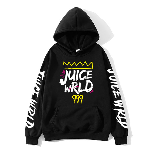 2020 black and white red J UICEWrld hoodie   2