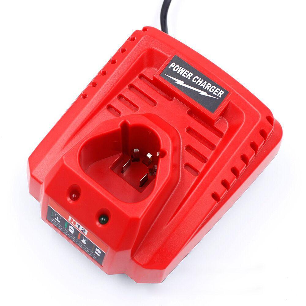 Carregador de bateria da substituição do li íon de 10.8 v 12 v para a bateria do lítio íon de milwaukee m12 n12 48 59 2401 48 11 2402-in Carregadores from Eletrônicos on Shop1383956 Store