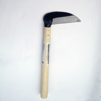 27cm Sharp Grass Sickle Lightweight steel machete knife wooden handle Hand Sickle Hand Scythe for Weeding Garden pruning tools 2