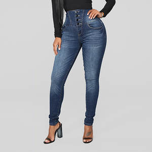 Boyfriend Jeans Slim-Pants Stretch Skinny High-Waisted Denim Woman 38 Soft for Calf Comfortable