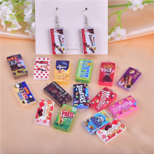 10pcs/30pcs/pack chocolate cookies Resin Charms Earring  Bracelet DIY Jewelry  Making