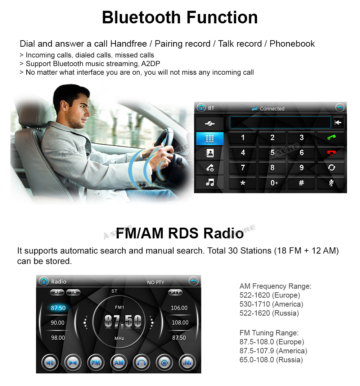 WIN CE VW 2 Din GPS DVD Golf Polo Passat B6 SEAT RDS DAB + 63