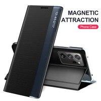 Funda abatible de cuero con soporte para móvil, carcasa de libro magnética ultra no 20 para samsung galaxy note 20 note 20 ultra