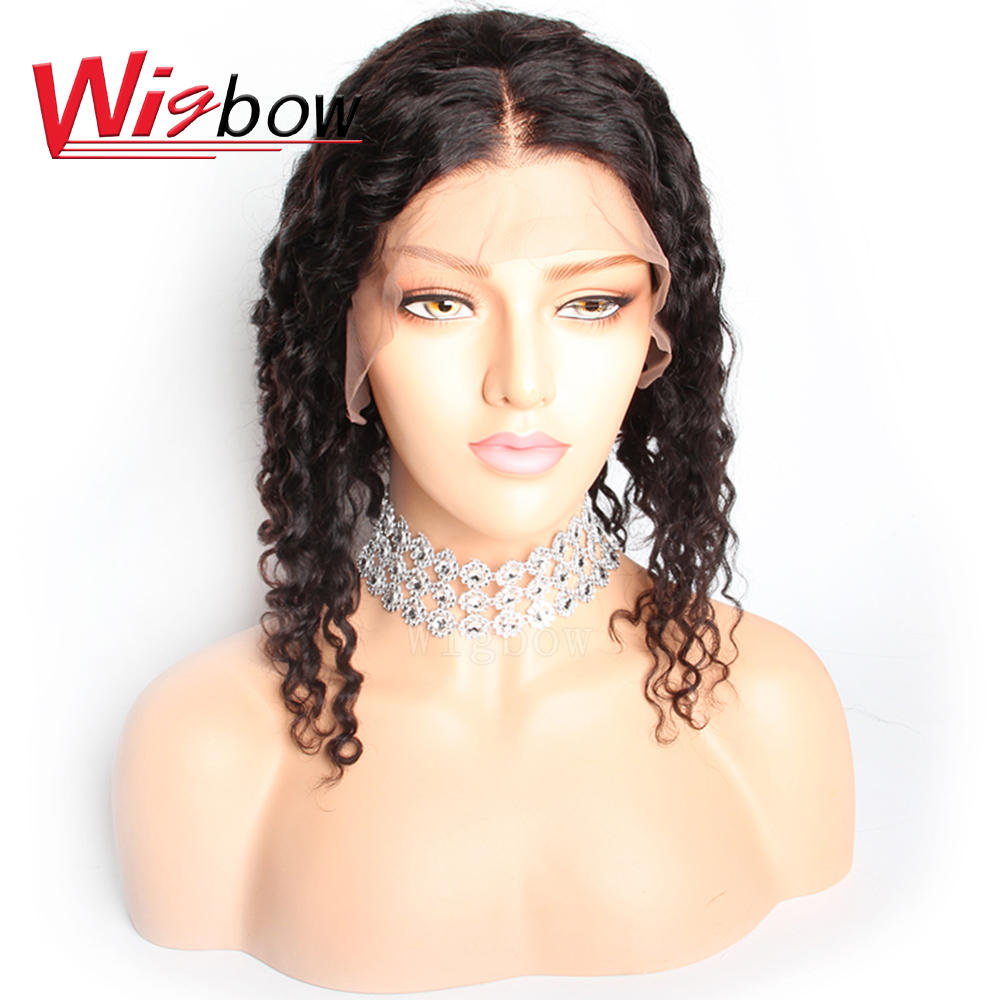 Wigbow OneCut Hair Jerry Curly 13*6 Lace Front Human Hair Wigs With Baby Hair Peruvian Remy Hair Short Curly Bob Wigs 8-14 Inch