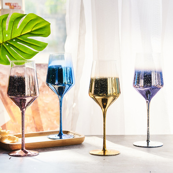 Star Creative Wine Glass Lead-free Glass Family Champagne Creative Personality Goblet Family Decoration Decoration
