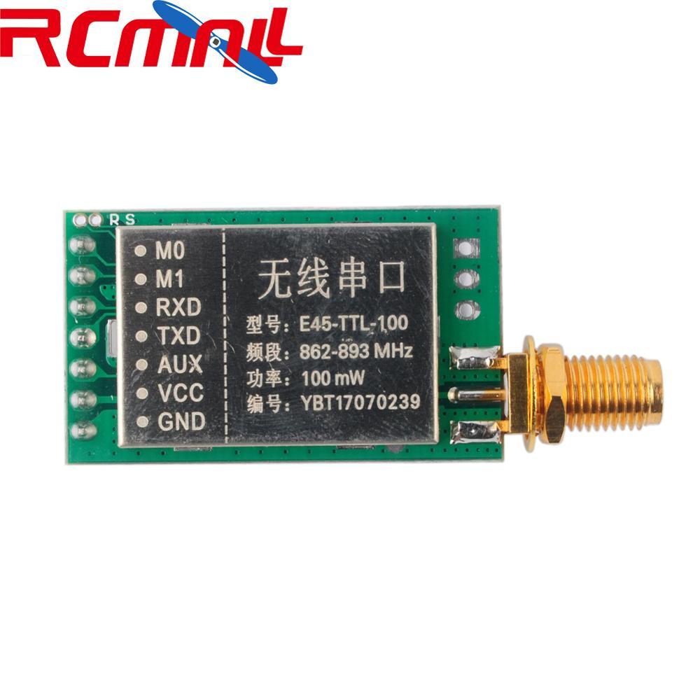 868MHz LoRa SX1276 100mW 20dBm RF Transmitter Receiver Wireless Module UART Long Range Transceiver 3000m 3KM FZ2909