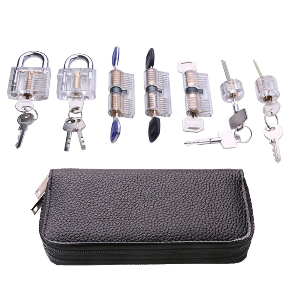 24pcs Locksmith Tools Kit Remove Pick Tool With Various Transparent Lock Pick Tool Set For Locksmith Beginner