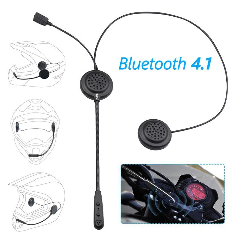 E1 Motorcycle Helmet Bluetooth Headset CSR 4.1 Motorbike Wireless Stereo Surround Handsfree Headphones