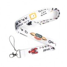 CA249 Commercio Allingrosso 20 pz/lotto Amici TV Portachiavi Portachiavi Id Badge Holder ID Pass Del Telefono Mobile USB Badge Holder Chiave cinghia 1pcs