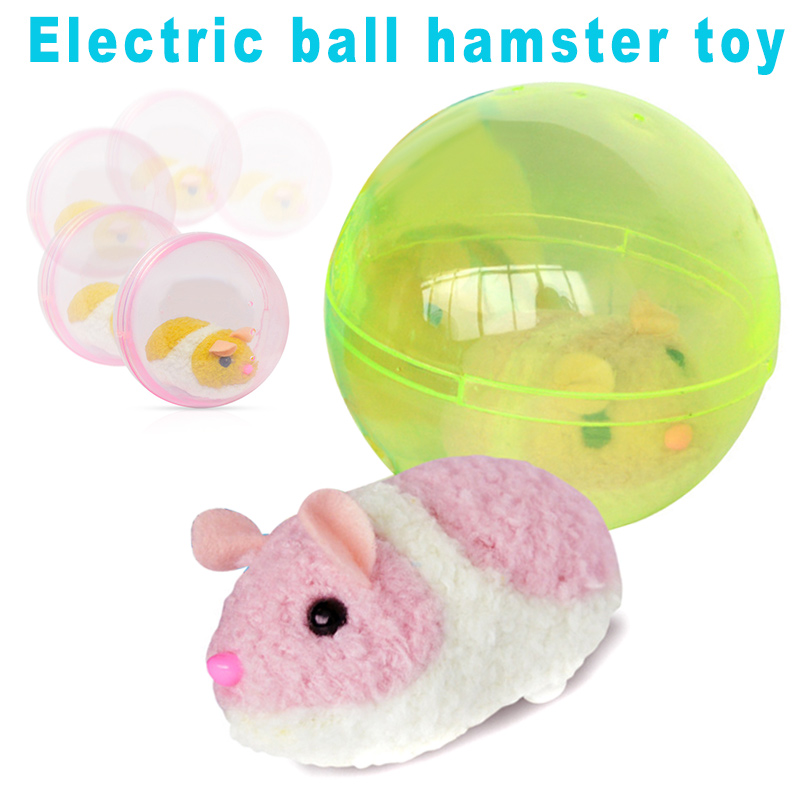 Baby Toys Electric Plush Animal Toy Rolling Hamster Ball Toy Gifts For Kids AN88