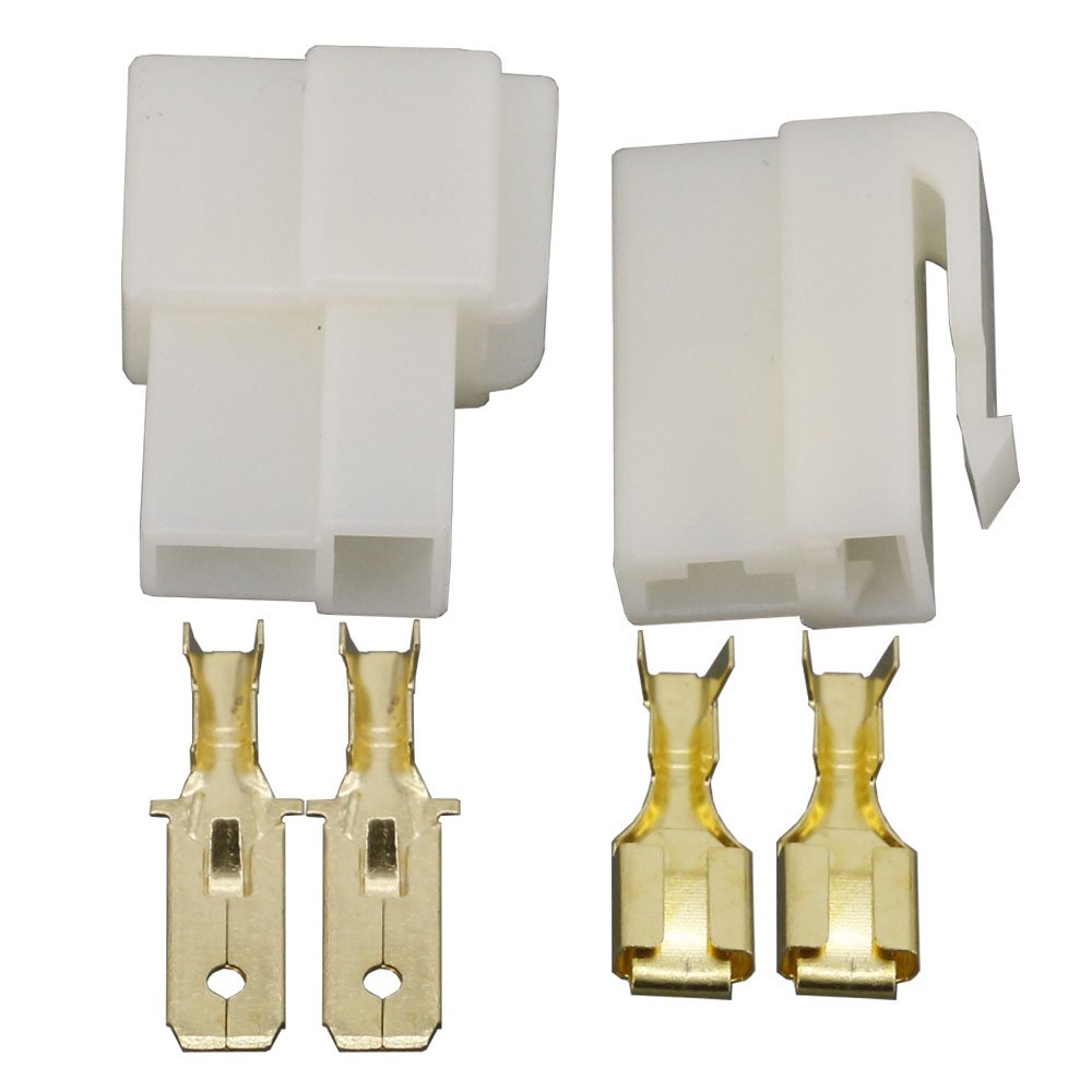All New 2 Pin DJJ7021F-6.3-11/21 ABS Plastic Electrical Wire Connectors Plug Male And Female Automobile Connector