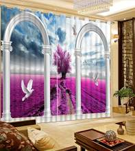 blackout curtains Beautiful landscape white pigeon windows curtain livingroom Bedroom hotel curtains(China)