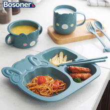Tableware Feeding-Dishes Dinosaur Dinner-Plate Baby Creative Children's Cartoon Home