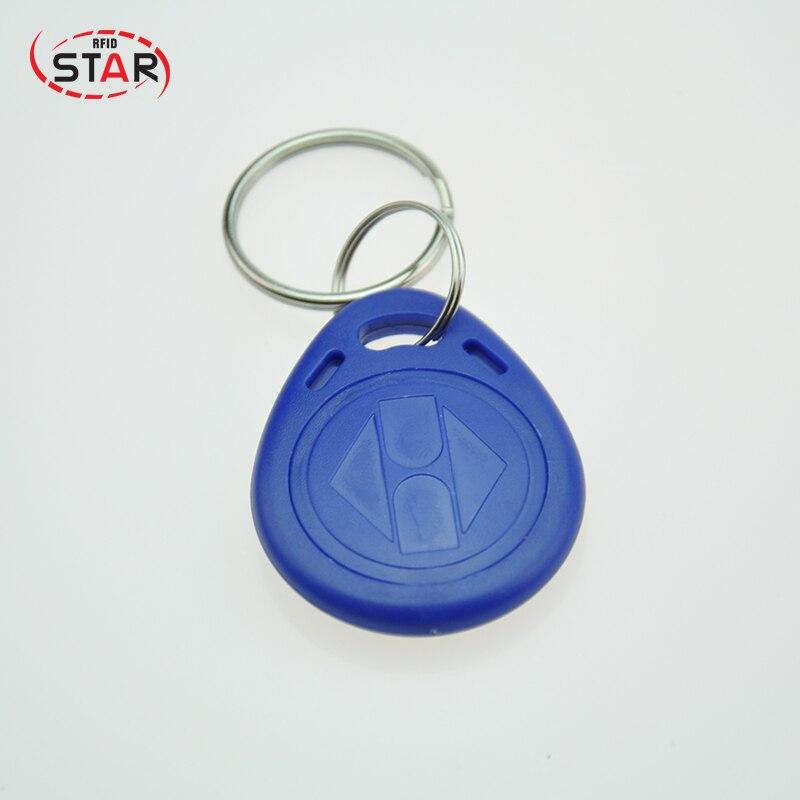 40pcs RFID Keychain Stickers Card Tag Key 125khz ID Keyfob TK4100 EM4100 Access Control Time Attendance Sticker Fob Token Ring