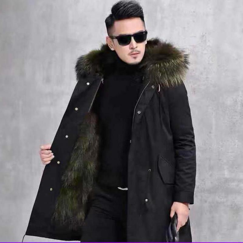 Pie Overcoming Men's Fur Liner In The 2019 Autumn And Winter Long New Men's Leather Jacket Jacket Fur