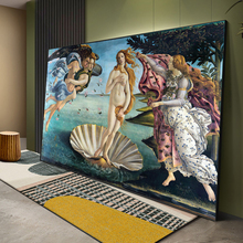 The Birth Of Venus Renaissance Famous Oil Canvas Painting Botticelli Reproduction Art Poster and Print Wall Art Picture Cuadros