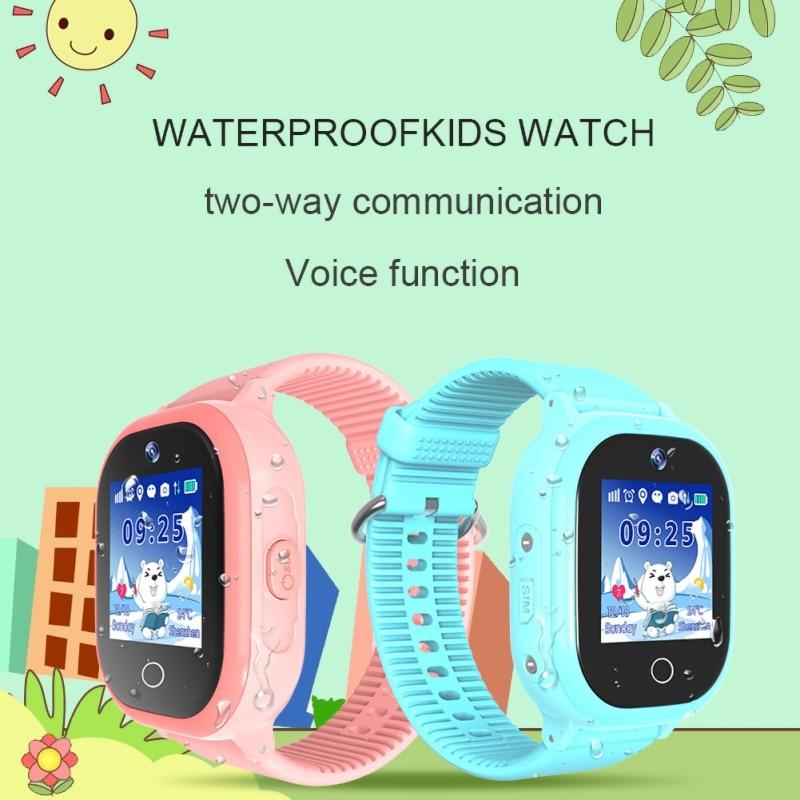 GPS Tracker Smart Watch For Kids Waterproof 1HD Camera GPS LBS Tracker SOS Call Voice Chat SIM Card Children Smart Watch TD-06S