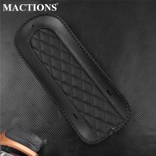 Motorcycle Black Leather Rear Fender Bib Solo Seat Cover For Harley Touring Road King Street Electra Glide FLHX FLHR 2008-2019
