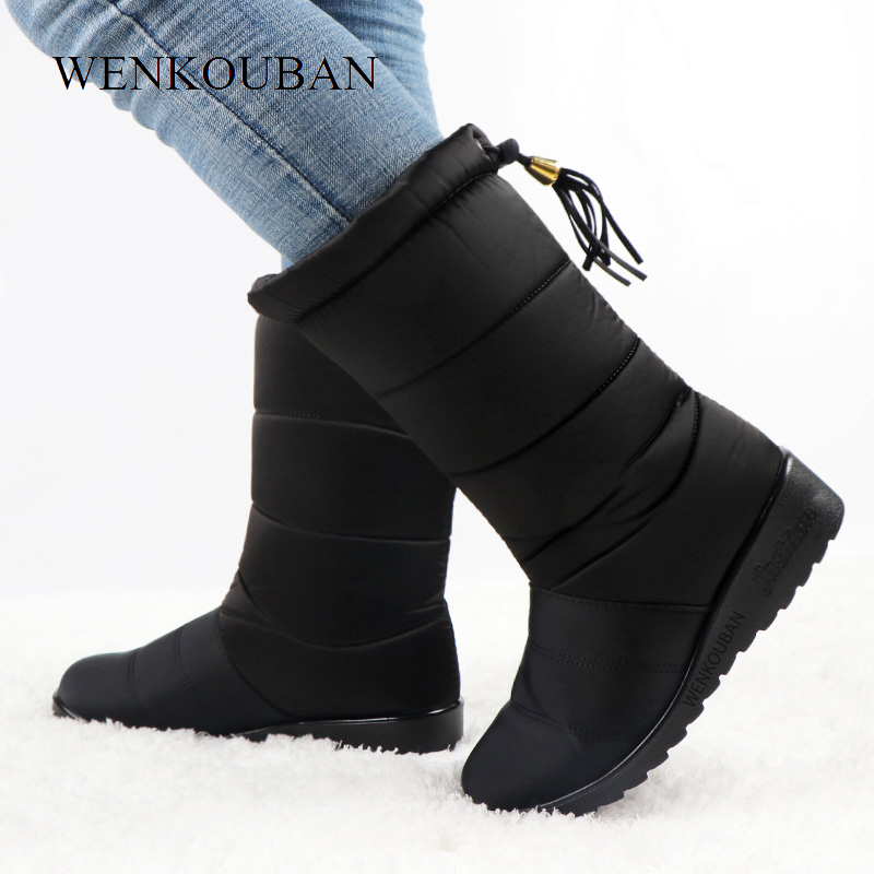 Winter Women Mid Calf Boots Ladies