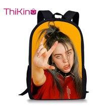 Thikin Billie Eilish Students School Bag for Girls Teenagers Backpack Travel Package Shopping Shoulder Women Mochila
