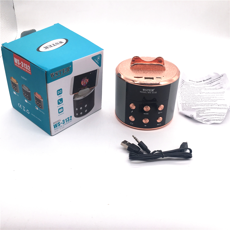Wster Version Ws-3132 Bluetooth Speaker With TF USB MUSIC PLAYING MODE TWS 5.0 Speakers Aux Line In Autodyne Sysytem