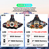 IR Sensor LED Headlamp Zoomable Induction Fishing Headlight 18650 Battery Hand Free Rechargeable T6 Head Lamp Lantern 3 5LEDs review