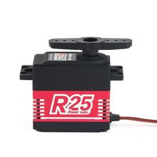 POWER HD R25 Alloy Gear Digital Coreless High Voltage Servo with 25kg High Torque for RC Remote Control Car Boat Ship 100% original power hd digital servo hd 1235mg high voltage 40kg for 1 5 car can work for futaba jr free shipping