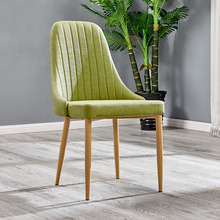 Nordic INS Wrought Iron Sponge Cloth Dining Chair Restaurant Suitable for Dining Chair Restaurant Office Business Home Bedroom
